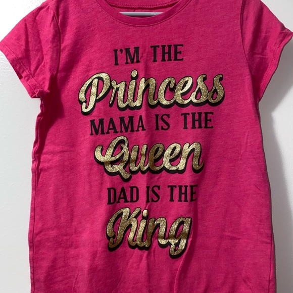 Girls' Pink Short Sleeve Graphic Tee - size M(7/8)